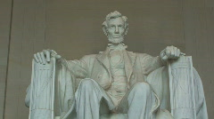 Close-up of Lincoln Memorial in Washington, D.C. – Zoom In - stock footage