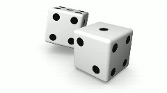 Rolling White Dice Stock Footage