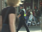Police Directing Traffic and People 3 Stock Footage