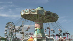 Carnival fair grounds M HD - stock footage