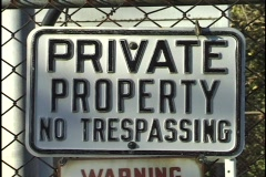 Private Property no Tresspassing Sign Stock Footage