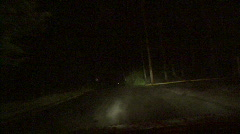 Foggy Road At Night 05 - stock footage