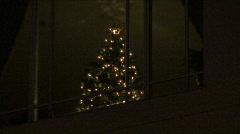 Condo Christmas Tree Stock Footage