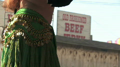 Belly dancer belly close M HD Stock Footage