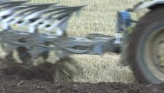 Ploughing 4 - close - stock footage