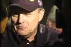 Rudy Giuliana Speaks to Press Stock Footage