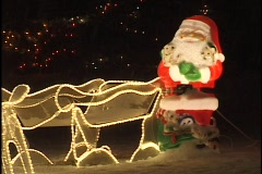 Christmas Decorations on Suburban House - stock footage