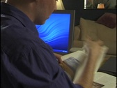 Scanning Documents in Home Office Stock Footage