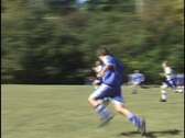 Stock Video Footage of Soccer, Kid Scores