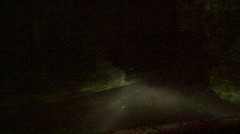 Foggy Road At Night 07 Stock Footage