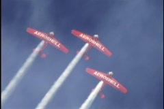 Stunt Planes at Air Show 1 Stock Footage