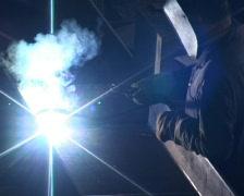 Electric arc welding Stock Footage