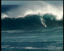 Stock Video Footage of Surfing Jaws 01