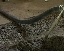 Cement pouring Stock Footage