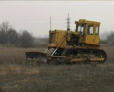 Caterpillar tractor Stock Footage