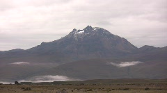 Rugged Andean peak viewed from Cotopaxi Volcano Stock Footage