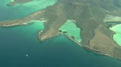 Aerial of Islands off La Paz, Baja Mexico Stock Footage