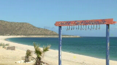 Baja, California Sea of Cortez water and fishhooks Stock Footage