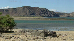 Baja water shot with mountains and Sea of Cortez Stock Footage