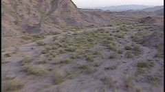 Aerial Desert Ground rush time lapse Stock Footage