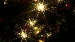 Nighttime christmas lights Stock Footage