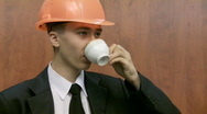 Stock Video Footage of teenager drinks coffee.