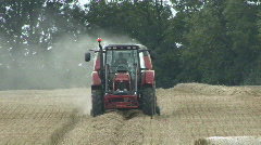 Hay baler working 1 Stock Footage