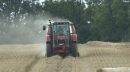 Stock Video Footage of Hay baler working 1