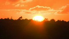 -Sunset Kauai, Hawaii time Lapse # 2 Stock Footage