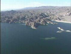 AERIAL Lake Havasu Stock Footage