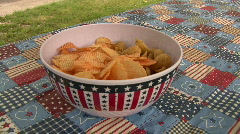 Patriotic Potato Chips Stock Footage