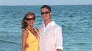 Couple Beach portrait Stock Footage