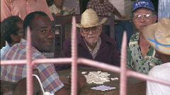 Men Play Dominos  - stock footage