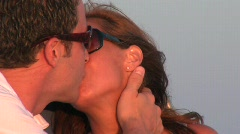 The Kiss Close up - stock footage