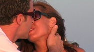 The Kiss Close up Stock Footage