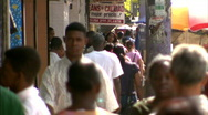 Stock Video Footage of Crowded Sidewalk Dominican Republic