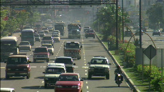 Stock Video Footage of Traffic in Dominican Republic