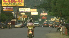 Traffic in Dominican Republic - stock footage
