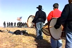 Civil war drum brigade Stock Footage