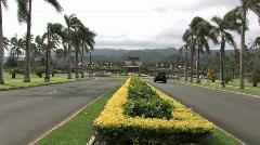 BYU university Hawaii entrance M HD Stock Footage