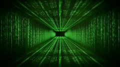 Matrix tunnel,data flow,seamless loop Stock Footage