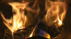 Hot fireplace Stock Footage