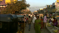 Busy Street in India 03 - stock footage