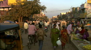 Stock Video Footage of Busy Street in India 03