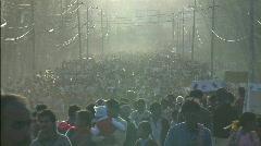 Nepal Mass Crowd Stock Footage