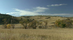 P00049 Savanna and Grassland Habitat in Fall - stock footage