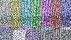 Colorbar Test Pattern Stock Footage