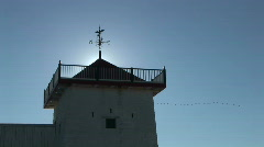 P00056 Backlighting of Fort Tower at Historic Site Stock Footage