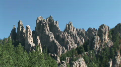 Black Hills Cathedral Spires - stock footage
