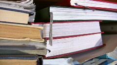 Books panning Stock Footage